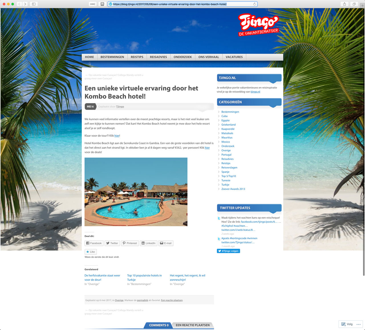 Virtual Tour of Kombo Beach Hotel (Gambia) on Tjingo