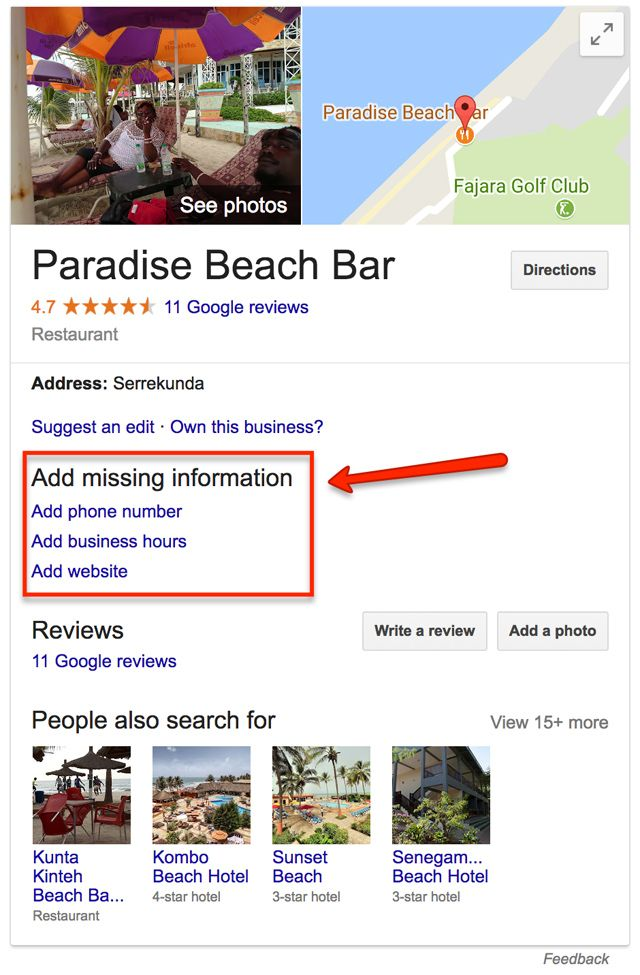 Paradise Beach Bar Gambia