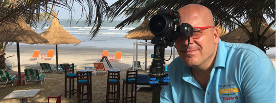 Shooting virtual tour at Poco Loco Beach Bar
