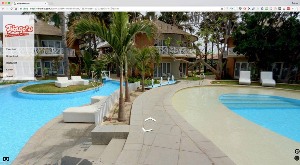Example of Virtual Tour of Balafon Resort in the Gambia